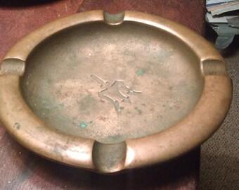 Mission Bronze Ashtray 1920,s Arts & Crafts