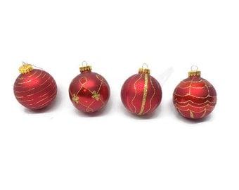 Vintage Christmas Ornaments, Christmas, Ornaments, Set of 4