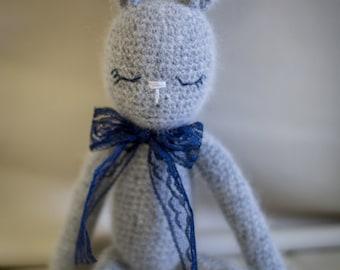 Handmade Crochet Bunny Rabbit Stuffed Animal Toy