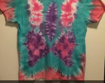 Butterfly tie-dye T-shirt