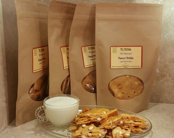 B's Brittle Old Fashioned Peanut Brittle - Gourmet - Rare Crunchy Style - 6 OZ. - No Preservatives-All Natural - 5 Pack - UPC 700153945172