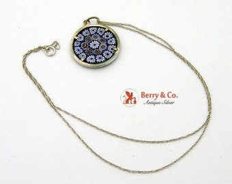 SaLe! sALe! Art Glass Necklace Pendant 800 Silver With Stering Silver Chain