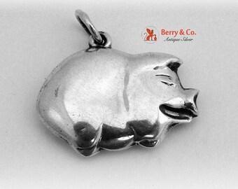 SaLe! sALe! Vintage Pig Pendant Sterling Silver