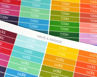56 Header Stickers Multi-Colored (Fun/Scripty Font) for your Erin Condren Life Planner