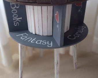Rotunda Book Table from Recycled Cable Reel