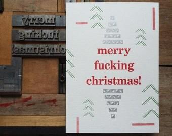 Letterpress typeset christmas card #3