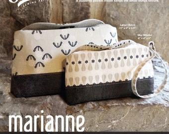 Swoon Patterns: Marianne Clutch & Wristlet - PDF Vintage Purse Clutch Wristlet Bag Sewing Pattern