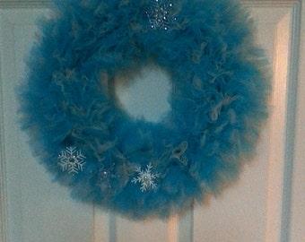 Frozen-themed Tulle Wreath
