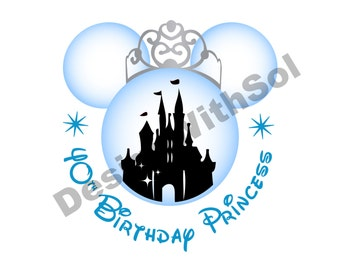 Birthday Princess Ears customized with name of your choice available as file to print on iron on transfer paper
