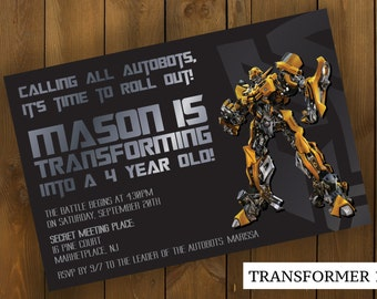 Transformer party invitation orderecigsjuicefo transformer birthday invitations etsy wedding invitations filmwisefo