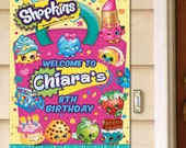 YOU PRINT Poster, Welcome Sign, Door Greeter - Shopkins Birthday Party