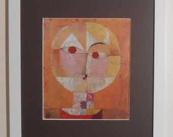 "Mounted and Framed - Senecio Print by Paul Klee - 16"" x 12"""