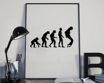 Michael Jackson Evolution Art Print