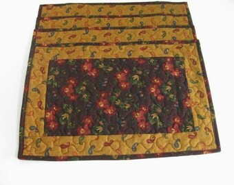 Placemats, Handmade Quilted Placemats