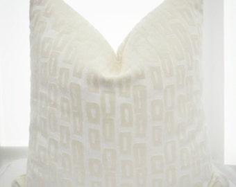 Off-White Velvet Pillow Cover ,Cream Velvet Pillow Cover,Velvet Pillow Cover,Geometric Pillow Cover,Ivory Velvet Pillow Cover