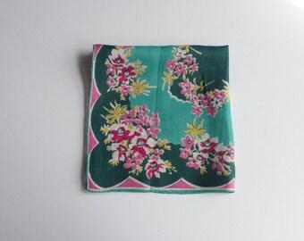 1940s/50s Floral Handkerchief