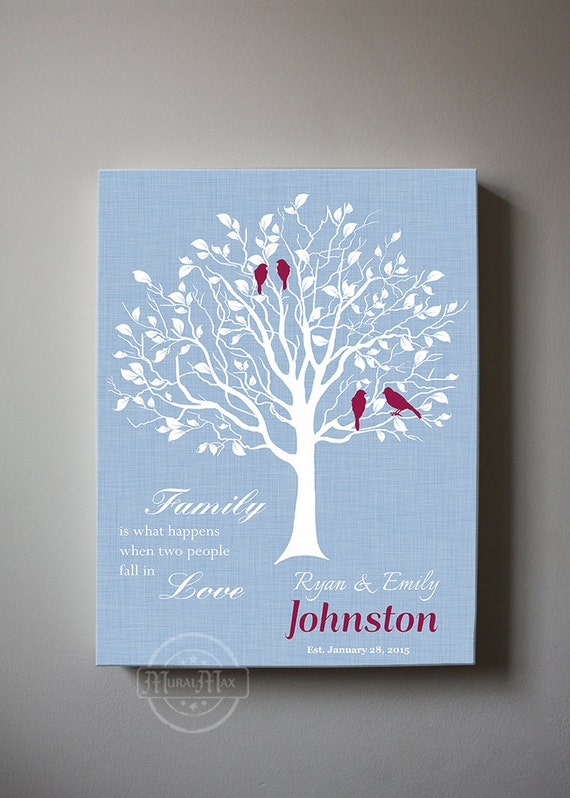 family tree canvas wall art personalized mother 39 s day. Black Bedroom Furniture Sets. Home Design Ideas