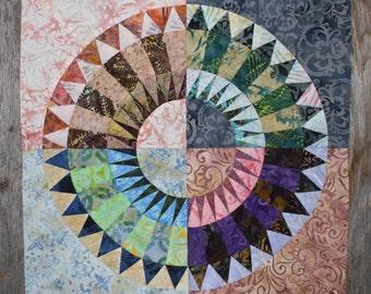 New York Beauty Quilt Block Paper Piecing Pattern - Block U