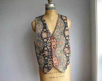 Kilim Inspired  Vintage Vest
