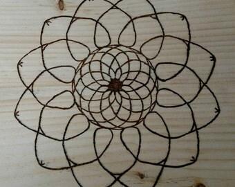 Wood Burnt Mandala