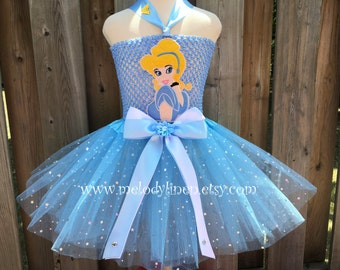 Cinderella tutu dress set Cinderella headband Cinderella birthday dress Cinderella birthday outfit Cinderella costume Cinderella tutu