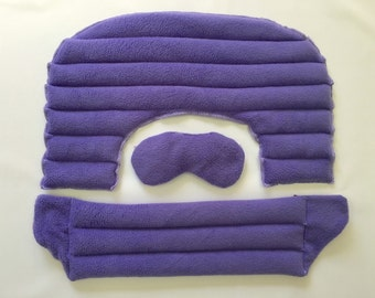 My Heating Pad- Home Set Hot and Cold Therapy Set - Natural and Reusable - Microwave or Freezer - Perfect Set (Purple)