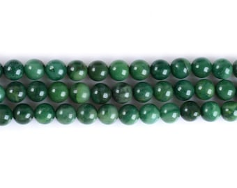 "6MM323 African Jade round ball loose gemstone beads 16"""