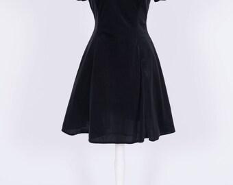 DBY ltd Black Velvet Vintage Dress