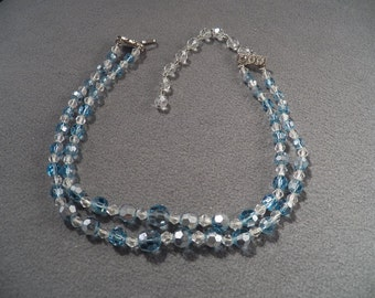 Vintage Enchanting Double Strand Glass Bead Necklace, So Sweet!~~ **RL