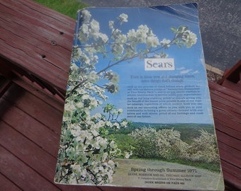 1971 Sears Spring & Summer catalog,1573 pages, A great reference to the era