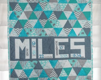 Personalized Triangle Quilt