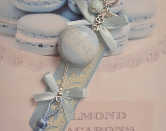 jewelry bag blue macaron