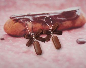earrings chcocolate eclairs