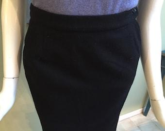 Vintage Evan Picone Black Straight Skirt - Never Worn Deadstock