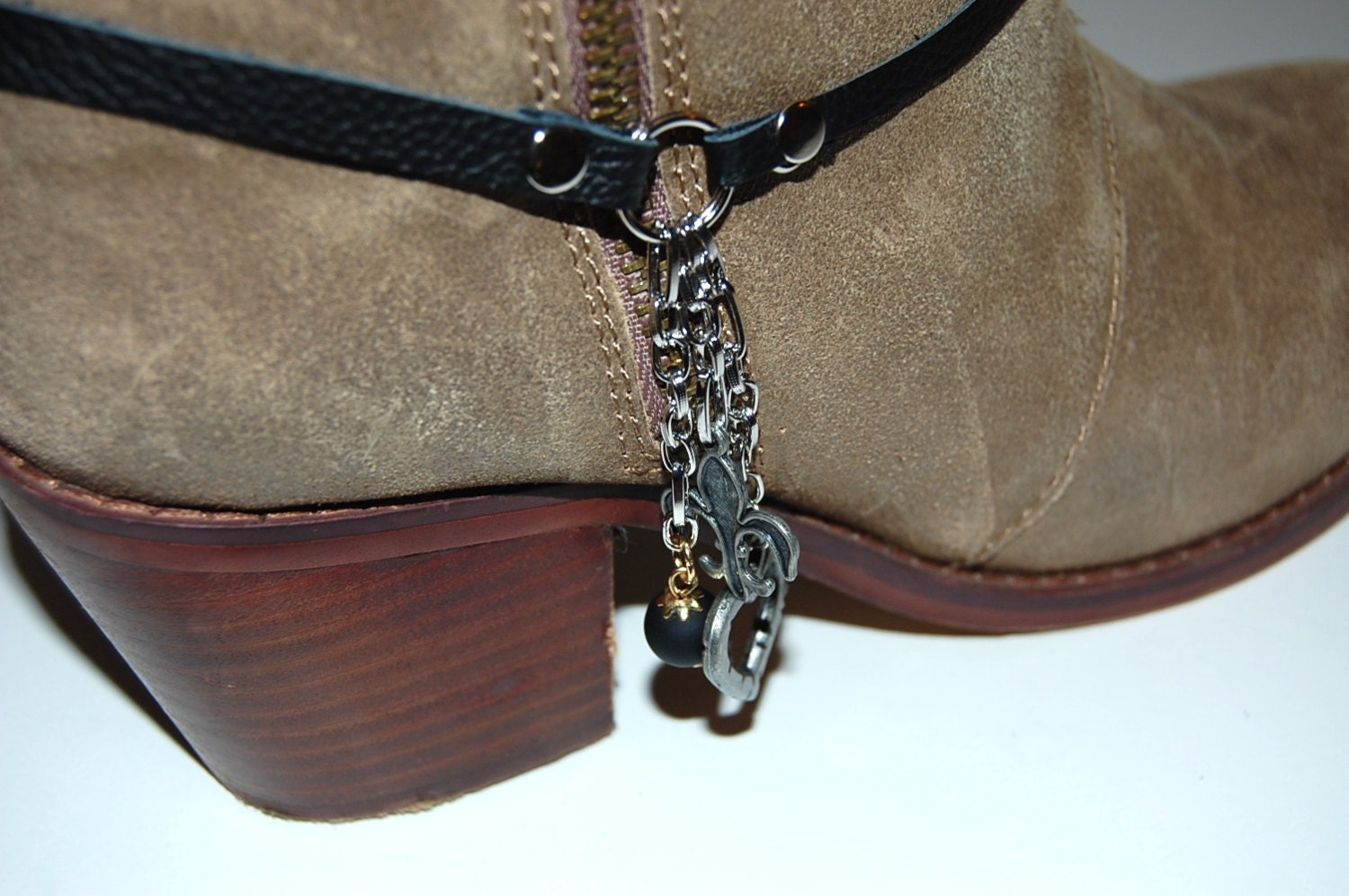 boot bracelet boot jewelry boot bling boot by sewmuchfunstuff