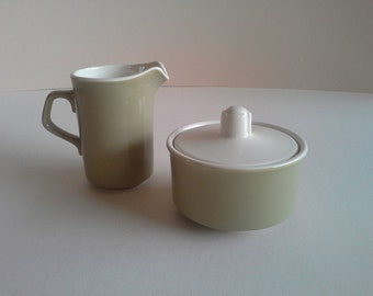 Vintage U S A Potteries Sugar and Creamer.