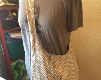 Gray and White geometrical Boho Sling bag