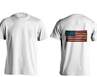 All American Apparal American Flag T-Shirts (Back)