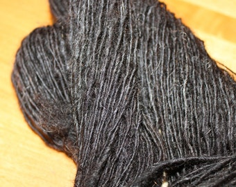 Natural Black Shetland single fine, 135 yards, 1.5 ounces