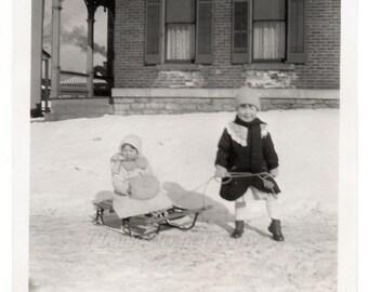 Vintage Photo ~ winter fun