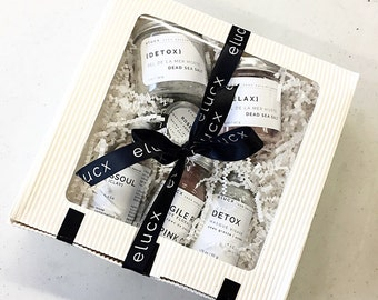 DELUXE Spa Gift Set/ Bridesmaid / Mother / Girlfriend/ Face Bath Body Gift // Organic Skin Care / Gift wrapping / from ELUCX