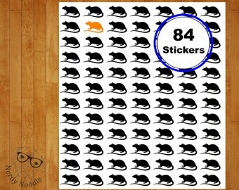 Rat Planner Stickers, Halloween Stickers, 84, Rat Stickers, Rat Sticker Set, Rat Envelope Seals, Halloween Planner Stickers, Halloween, Rats
