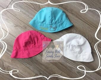Personalized Kids Summer Hat, Baby Hat, Childs Hat, Bucket Hat, Beach Hat, Sun Hat, Baby Shower Gift, Baby Gift
