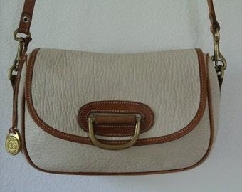 Dooney & Bourke AWL Cross Body Shoulder Bag Clutch Beige/Brown Duck logo