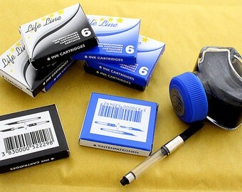 Calligraphy Set for Fountain pens Black & Blue ink Pens Supplies