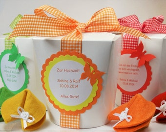 Fortune cookies for special moments - round box