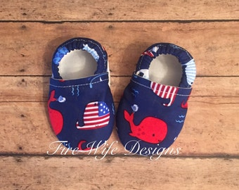 American Whale Soft Sole Baby Shoes, Crib Shoes, Baby Slippers, Baby Booties, Baby Mocs, Vegan Baby Shoes