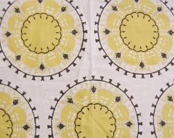 Home Decor Fabric Sample Square - Medallion Band Citrine - Cotton Fabric - 26 x 26 Inches