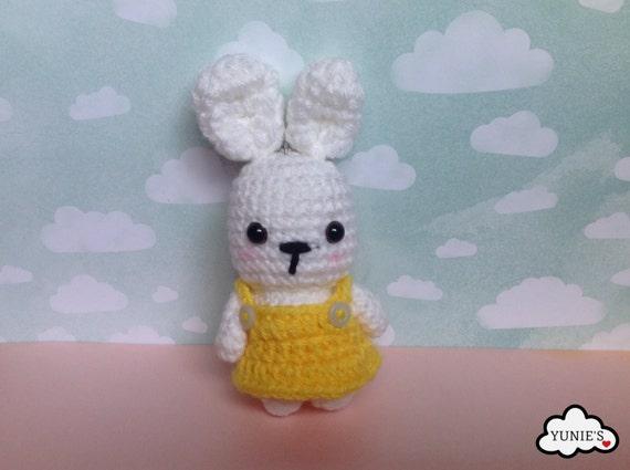 Amigurumi Bunny Keychain : Crochet amigurumi rabbit : bunny amigurumi key chain