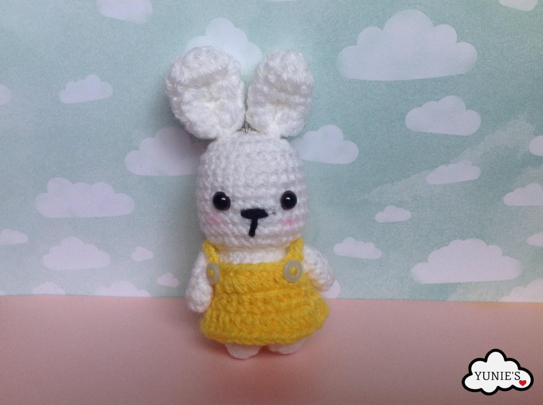 Amigurumi Bunny Ears : Crochet amigurumi rabbit : bunny amigurumi key chain